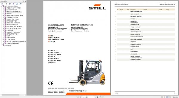 STILL_STED_Forklift_Updated_2020_User_Manual_Part_Catalog_Full_DVD_7