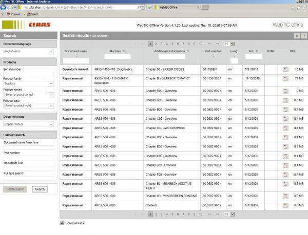 CLAAS_WebTIC_Offline_112020_Operator_Manual_Repair_Manual_and_Service_Documentation_4
