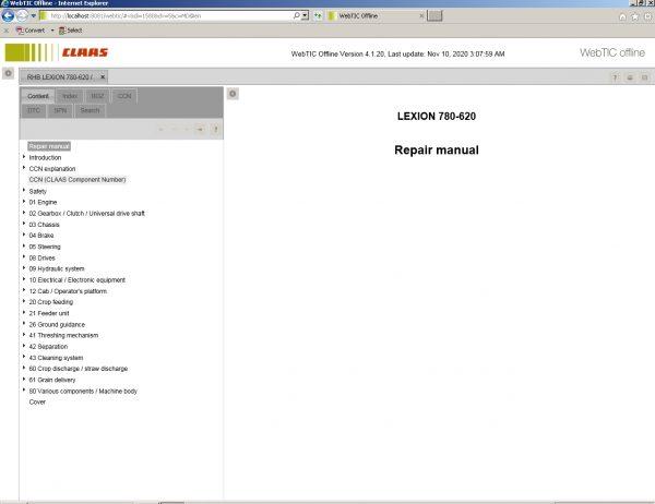 CLAAS_WebTIC_Offline_112020_Operator_Manual_Repair_Manual_and_Service_Documentation_8