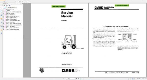ClarkForkliftPDF2020ServiceManualMaintenanceSchematicandServiceBulletins10Ba1GF