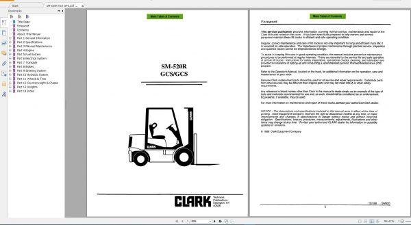ClarkForkliftPDF2020ServiceManualMaintenanceSchematicandServiceBulletins6VOxBG