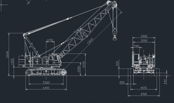 Hitachi_Sumitomo_Heavy_Industries_Construction_Crane_Full_Cad_Data_DXF_DWG_0