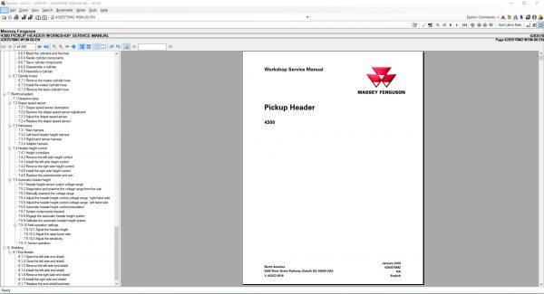 MasseyFergusonAGEuropePartsCatalogWorkshopServiceManuals20206
