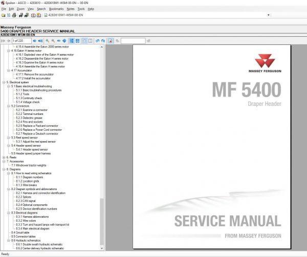 MasseyFergusonAGEuropePartsCatalogWorkshopServiceManuals20207