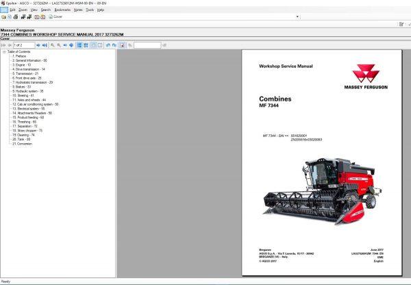 MasseyFergusonAGEuropePartsCatalogWorkshopServiceManuals20208