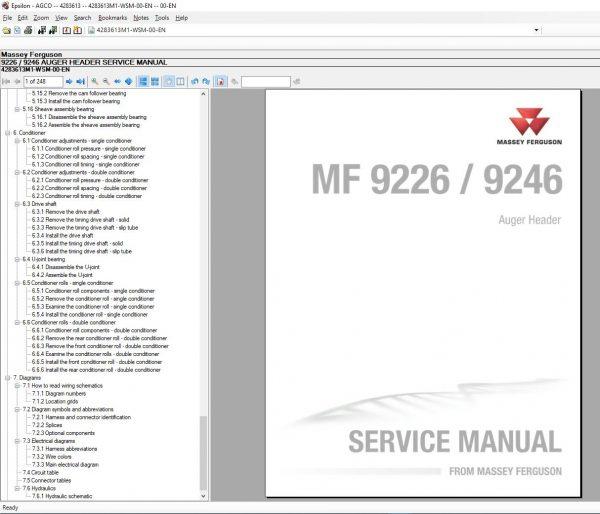 MasseyFergusonAGEuropePartsCatalogWorkshopServiceManuals20209