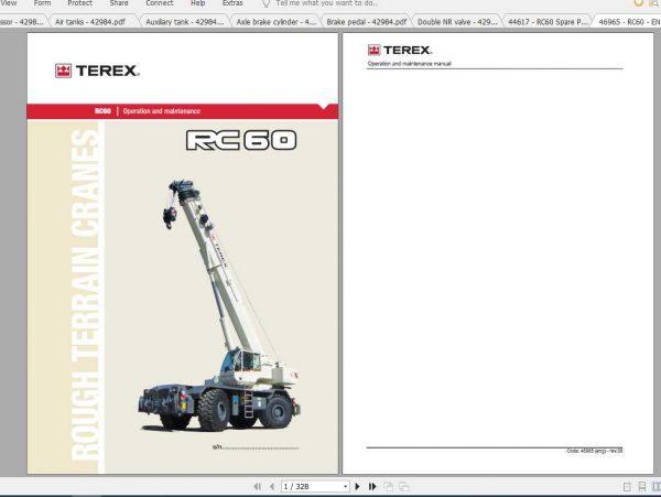 Terex Mobile Crane RC60 Spare Parts, Electric Diagram & Hydraulics - Auto  Repair Software-Auto EPC Software-Auto Repair Manual-Workshop Manual-Service  Manual-Workshop Manual