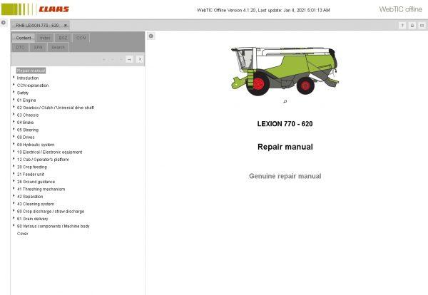 CLAAS-WebTIC-Offline-01.2021-Operator-Manual–Repair-Manual-and-Service-Documentation-6