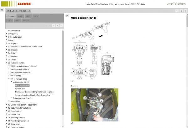 CLAAS-WebTIC-Offline-01.2021-Operator-Manual–Repair-Manual-and-Service-Documentation-7