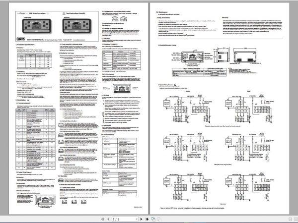 COMBILIFT-AISLEMASTER-C-Forklift-Service-Part-Manual-Schematic-2