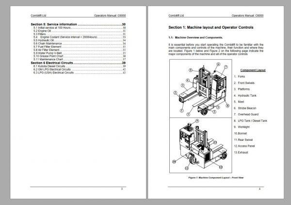 COMBILIFT-AISLEMASTER-C-Forklift-Service-Part-Manual-Schematic-7