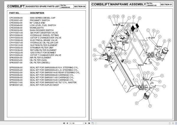 COMBILIFT-AISLEMASTER-C-Forklift-Service-Part-Manual-Schematic-8