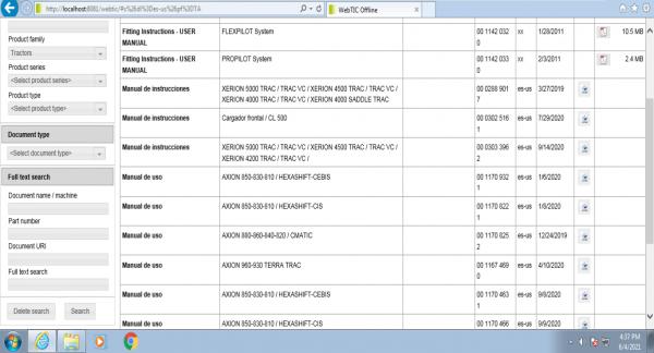 CLAAS-WebTIC-Offline-ES_US-06.2021-Operator-Manual-Repair-Manual–Service-Documentation-DVD-1