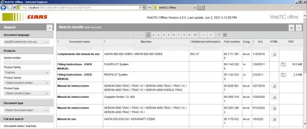CLAAS-WebTIC-Offline-Espanol_ES-06.2021-Operator-Manual-Repair-Manual–Service-Documentation-DVD-2