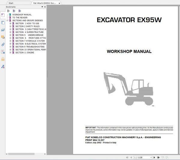 Fiat-Hitachi-107-GB-PDF-Excavator-Backhoe-Loader-Crawler-Dozer-Wheel-Loader-Workshop-Manual-3