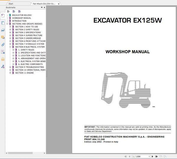 Fiat-Hitachi-107-GB-PDF-Excavator-Backhoe-Loader-Crawler-Dozer-Wheel-Loader-Workshop-Manual-4
