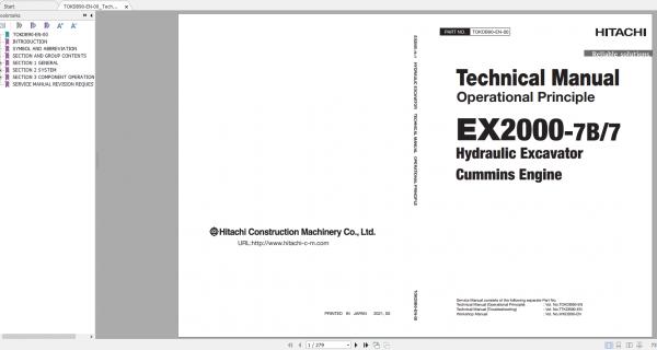 Hitachi-Hydraulic-Excavator-Mining-EX2000-7-EX2000-7B-Cummins-Engines-Technical-Manual-1