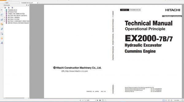 Hitachi-Hydraulic-Excavator-Mining-EX2000-7-EX2000-7B-Technical-Manual-Cummins-Engines