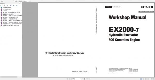 Hitachi-Hydraulic-Excavator-Mining-EX2000-7-FC0-Cummins-Engine-Workshop-Manual-1