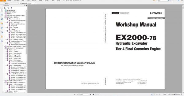 Hitachi-Hydraulic-Excavator-Mining-EX2000-7B-Workshop-Manual_Tier-4-Final-Cummins-Engine