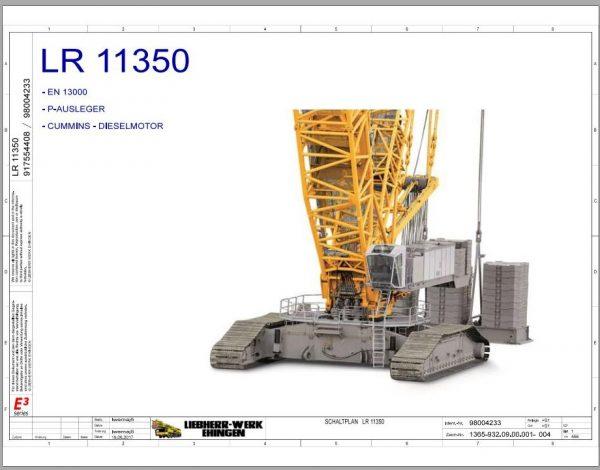 Liebherr-Crawler-Crane-LR-11350-1350-ton-Electric-and-Hydraulic-Circuit-Diagram-1