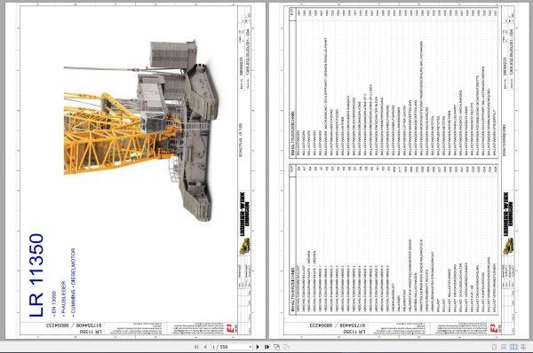 Liebherr-Crawler-Crane-LR-11350-1350-ton-Electric-and-Hydraulic-Circuit-Diagram-3