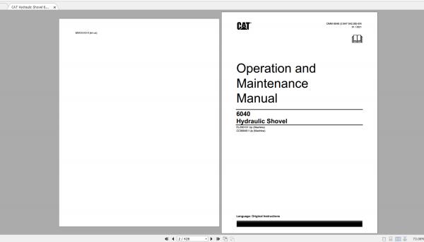 CAT Hydraulic Shovel 1.94GB Full Models Operation & Maintenance Manuals PDF DVD 3