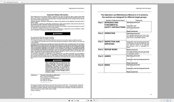 CAT Hydraulic Shovel 1.94GB Full Models Operation & Maintenance Manuals PDF DVD 4