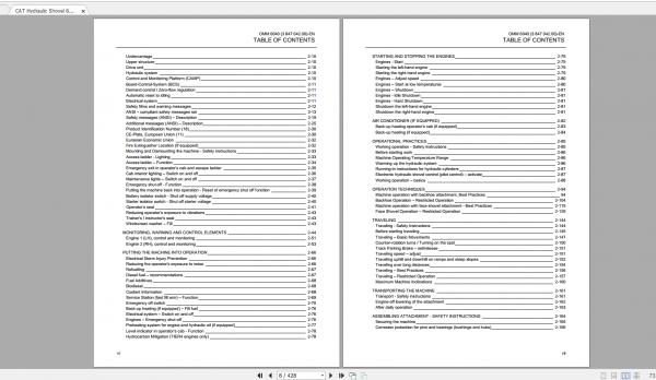 CAT Hydraulic Shovel 1.94GB Full Models Operation & Maintenance Manuals PDF DVD 6