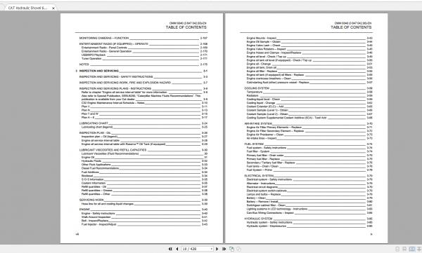 CAT Hydraulic Shovel 1.94GB Full Models Operation & Maintenance Manuals PDF DVD 7