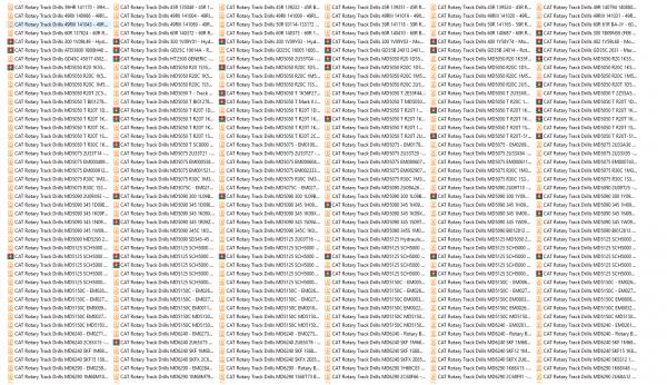 CAT-Rotary-Track-Drills-8.40GB-Full-Models-Spare-Parts-Manuals-PDF-DVD-2
