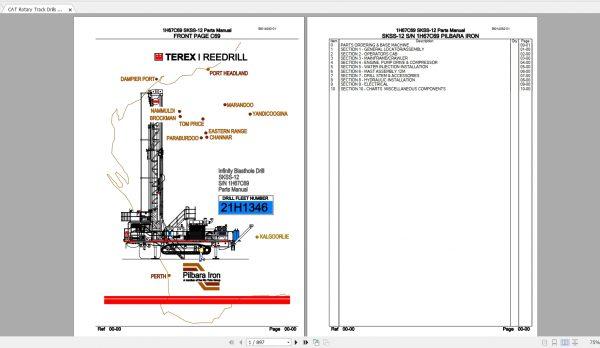 CAT-Rotary-Track-Drills-8.40GB-Full-Models-Spare-Parts-Manuals-PDF-DVD-6