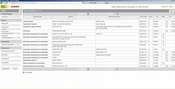 CLAAS-WebTIC-Offline-RU_Russian-07.2021-Operator-Repair-Manual–Service-Documentation-DVD-2