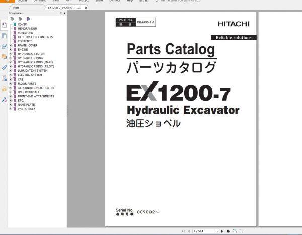 Hitachi-Mining-Excavator-EX-2021-10.9GB-PDF-Parts-Catalog-Technical-Manual-Workshop-Manual-Circuit-Diagram-DVD-4