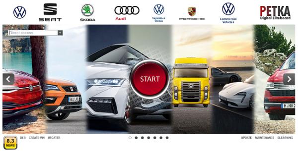 PETKA-8.3-Volkswagen—Seat—Skoda—Audi—Commercial-Vehicles—Porsche-05.2021-Spare-Parts-Catalog-DVD-0