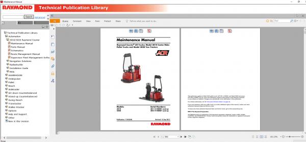 RAYMOND-Forklift-Technical-Publication-Library-2020-DVD-5