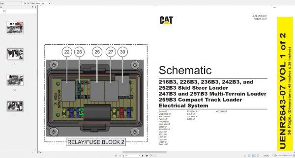 CAT-Skid-Steer-Loader-170MB-Full-Models-04.1988—08.2021-Updated-Electric-Hydraulic-Schematics-EN-PDF-DVD-4