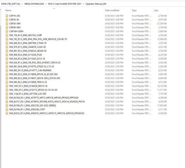 Clark-Forklift-DVD-PDF-2021-928GB-Service-Manual-Parts-Catalog–Operator-Manual-3